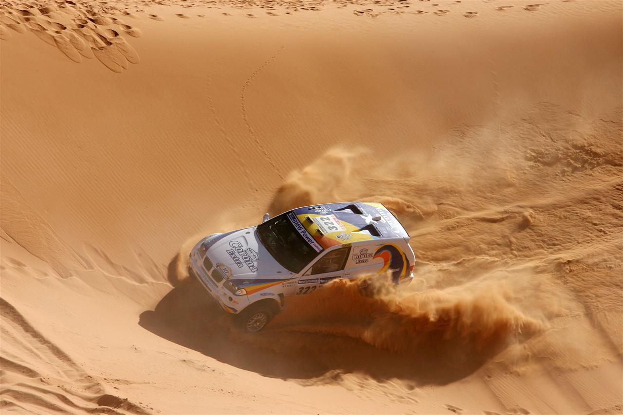 rally racing in 2002.